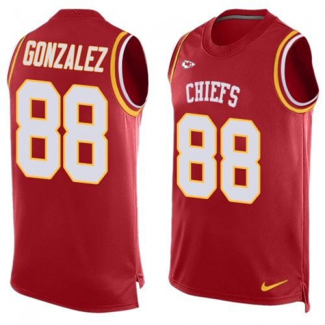 Nike Chiefs #88 Tony Gonzalez Red Team Color Men's Stitched NFL Limited Tank Top Jersey