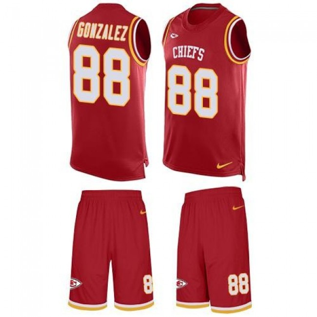 Nike Chiefs #88 Tony Gonzalez Red Team Color Men's Stitched NFL Limited Tank Top Suit Jersey