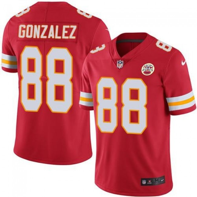 Nike Chiefs #88 Tony Gonzalez Red Team Color Men's Stitched NFL Vapor Untouchable Limited Jersey