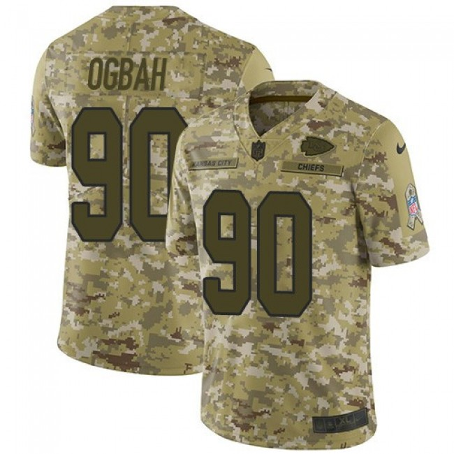 Nike Chiefs #90 Emmanuel Ogbah Camo Men's Stitched NFL Limited 2018 Salute To Service Jersey