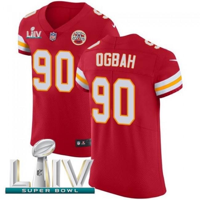 Nike Chiefs #90 Emmanuel Ogbah Red Super Bowl LIV 2020 Team Color Men's Stitched NFL Vapor Untouchable Elite Jersey