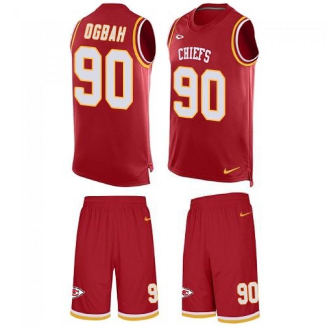 Nike Chiefs #90 Emmanuel Ogbah Red Team Color Men's Stitched NFL Limited Tank Top Suit Jersey