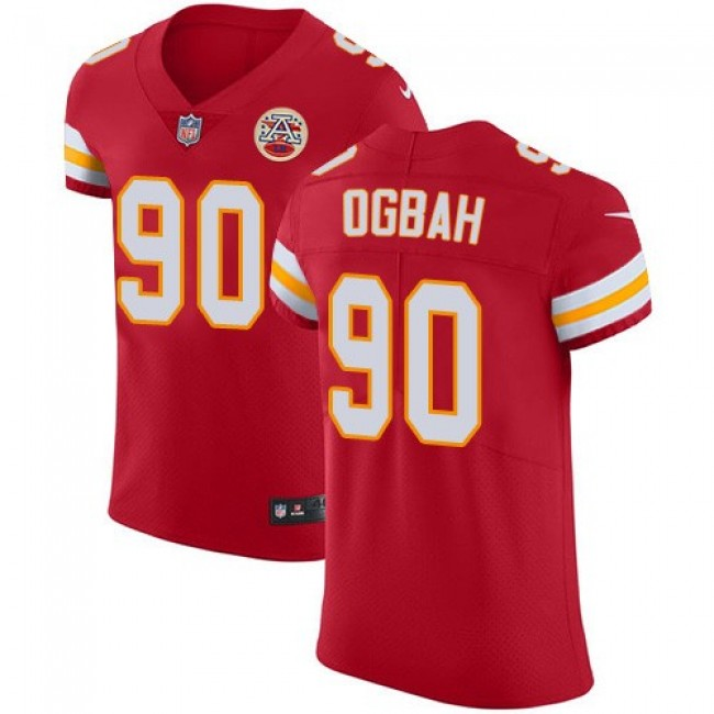Nike Chiefs #90 Emmanuel Ogbah Red Team Color Men's Stitched NFL Vapor Untouchable Elite Jersey