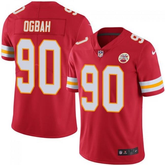 Nike Chiefs #90 Emmanuel Ogbah Red Team Color Men's Stitched NFL Vapor Untouchable Limited Jersey