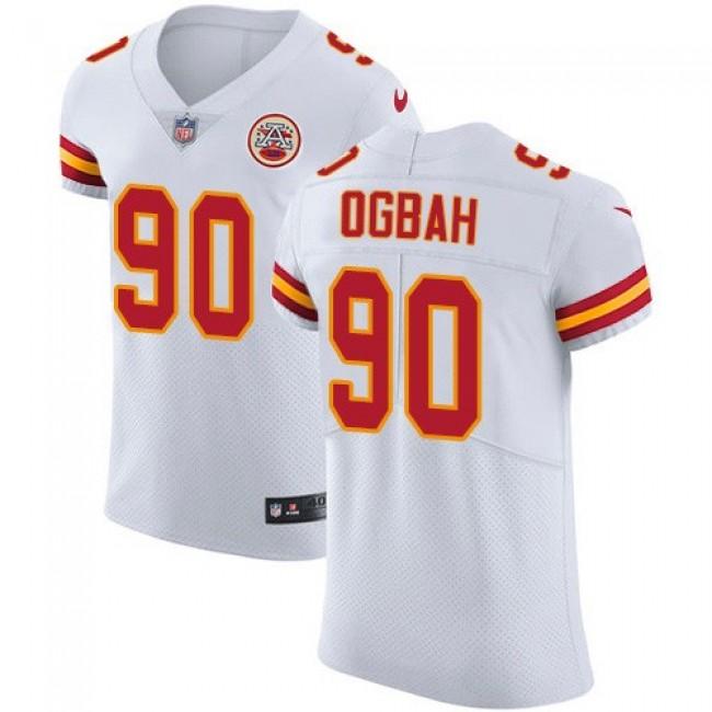Nike Chiefs #90 Emmanuel Ogbah White Men's Stitched NFL Vapor Untouchable Elite Jersey