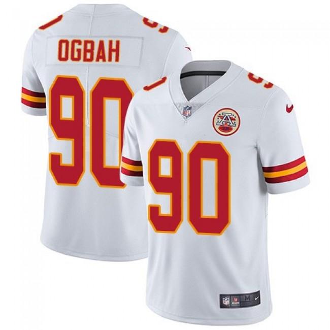 Nike Chiefs #90 Emmanuel Ogbah White Men's Stitched NFL Vapor Untouchable Limited Jersey