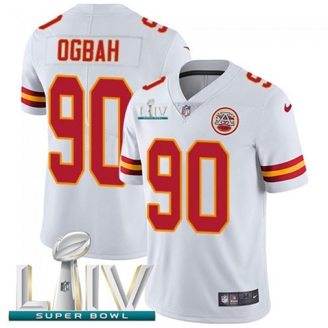 Nike Chiefs #90 Emmanuel Ogbah White Super Bowl LIV 2020 Men's Stitched NFL Vapor Untouchable Limited Jersey