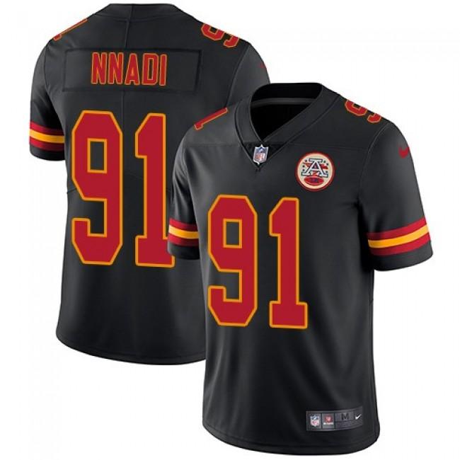 Nike Chiefs #91 Derrick Nnadi Black Men's Stitched NFL Limited Rush Jersey