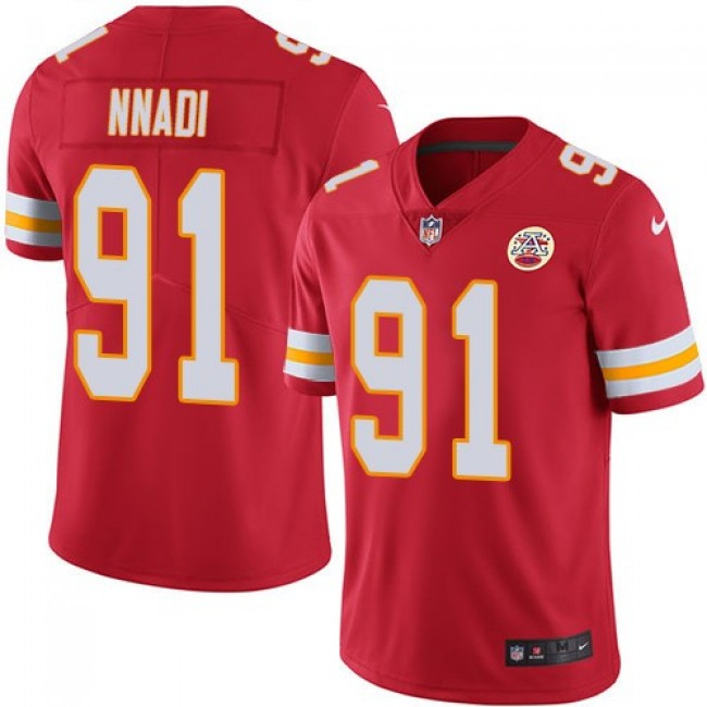 Nike Chiefs #91 Derrick Nnadi Red Team Color Men's Stitched NFL Vapor Untouchable Limited Jersey