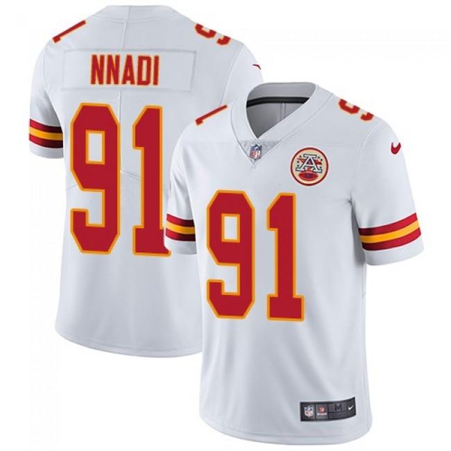 Nike Chiefs #91 Derrick Nnadi White Men's Stitched NFL Vapor Untouchable Limited Jersey