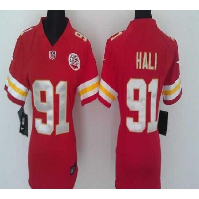 Women's Chiefs #91 Tamba Hali Red Team Color Stitched NFL Elite Jersey