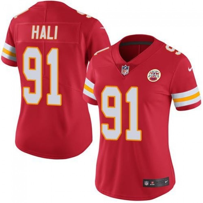 Women's Chiefs #91 Tamba Hali Red Team Color Stitched NFL Vapor Untouchable Limited Jersey