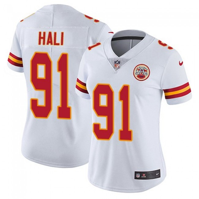 Women's Chiefs #91 Tamba Hali White Stitched NFL Vapor Untouchable Limited Jersey