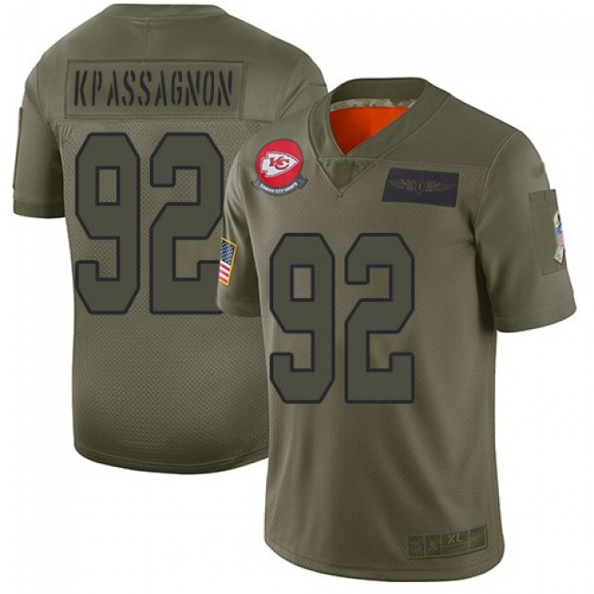 Nike Chiefs #92 Tanoh Kpassagnon Camo Men's Stitched NFL Limited 2019 Salute To Service Jersey