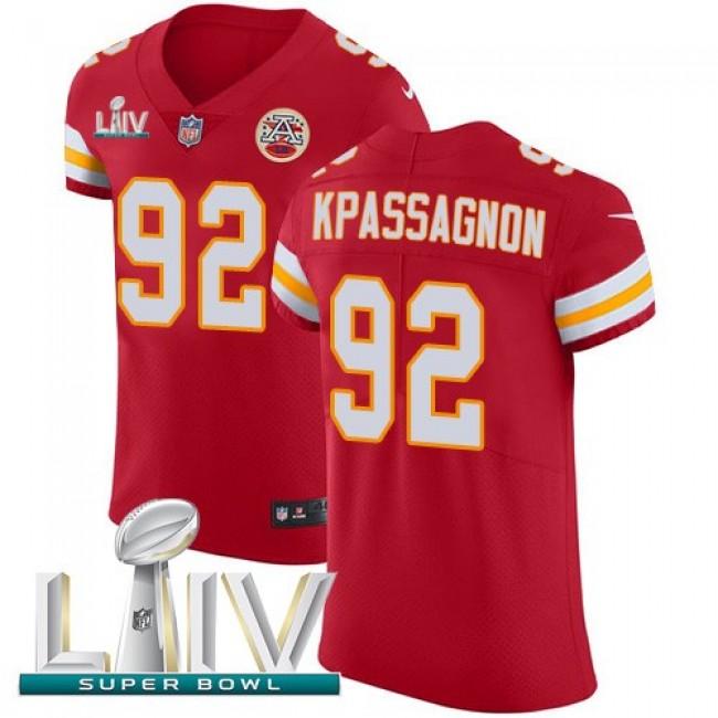 Nike Chiefs #92 Tanoh Kpassagnon Red Super Bowl LIV 2020 Team Color Men's Stitched NFL Vapor Untouchable Elite Jersey