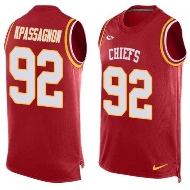 Nike Chiefs #92 Tanoh Kpassagnon Red Team Color Men's Stitched NFL Limited Tank Top Jersey