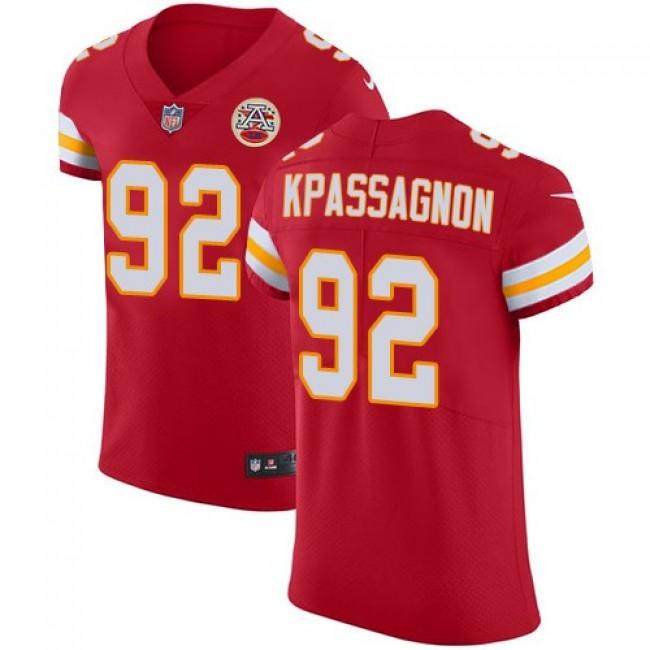 Nike Chiefs #92 Tanoh Kpassagnon Red Team Color Men's Stitched NFL Vapor Untouchable Elite Jersey