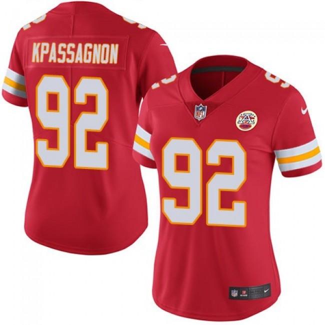 Women's Chiefs #92 Tanoh Kpassagnon Red Team Color Stitched NFL Vapor Untouchable Limited Jersey