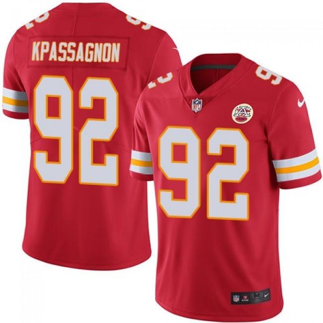 Kansas City Chiefs #92 Tanoh Kpassagnon Red Team Color Youth Stitched NFL Vapor Untouchable Limited Jersey