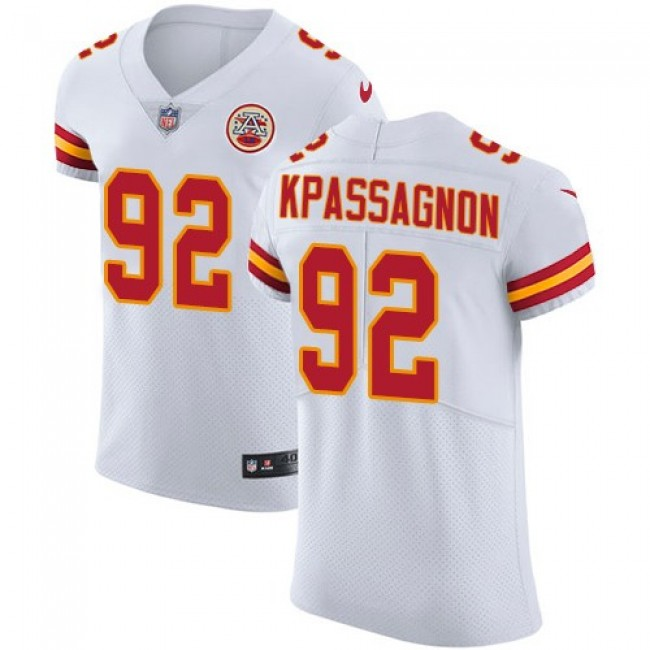 Nike Chiefs #92 Tanoh Kpassagnon White Men's Stitched NFL Vapor Untouchable Elite Jersey