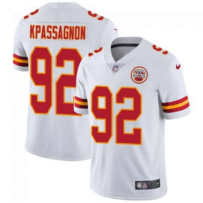 Nike Chiefs #92 Tanoh Kpassagnon White Men's Stitched NFL Vapor Untouchable Limited Jersey
