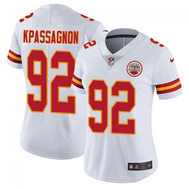 Women's Chiefs #92 Tanoh Kpassagnon White Stitched NFL Vapor Untouchable Limited Jersey