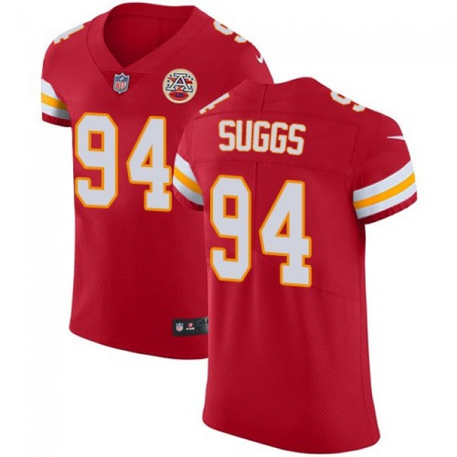 Nike Chiefs #94 Terrell Suggs Red Team Color Men's Stitched NFL Vapor Untouchable Elite Jersey