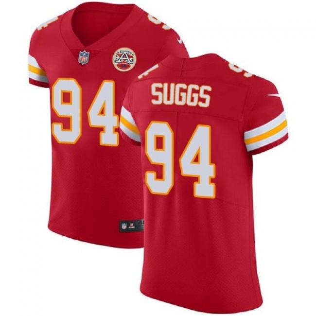 Nike Chiefs #94 Terrell Suggs Red Team Color Men's Stitched NFL Vapor Untouchable Elite Jersey