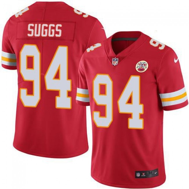 Nike Chiefs #94 Terrell Suggs Red Team Color Men's Stitched NFL Vapor Untouchable Limited Jersey