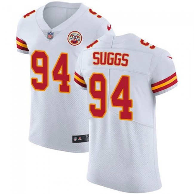 Nike Chiefs #94 Terrell Suggs White Men's Stitched NFL New Elite Jersey