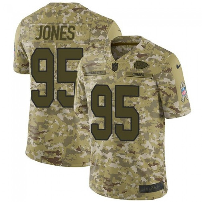 Nike Chiefs #95 Chris Jones Camo Men's Stitched NFL Limited 2018 Salute To Service Jersey