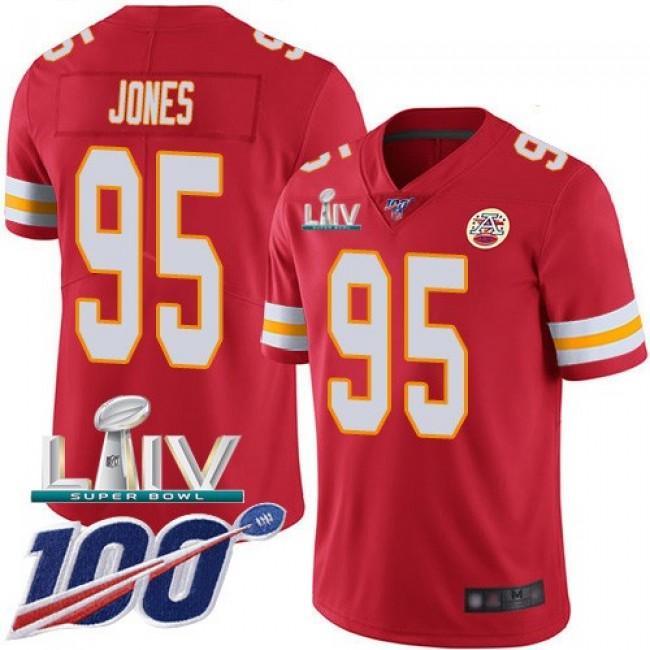 Nike Chiefs #95 Chris Jones Red Super Bowl LIV 2020 Team Color Men's Stitched NFL 100th Season Vapor Untouchable Limited Jersey