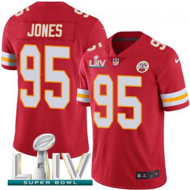 Nike Chiefs #95 Chris Jones Red Super Bowl LIV 2020 Team Color Men's Stitched NFL Vapor Untouchable Limited Jersey