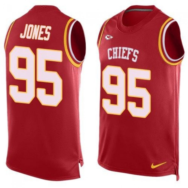 Nike Chiefs #95 Chris Jones Red Team Color Men's Stitched NFL Limited Tank Top Jersey