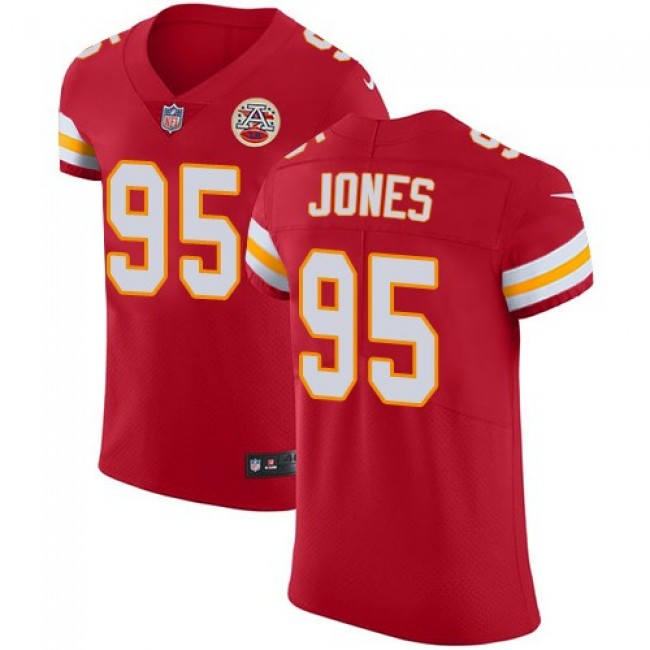 Nike Chiefs #95 Chris Jones Red Team Color Men's Stitched NFL Vapor Untouchable Elite Jersey