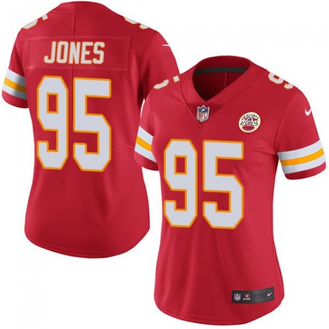 Women's Chiefs #95 Chris Jones Red Team Color Stitched NFL Vapor Untouchable Limited Jersey