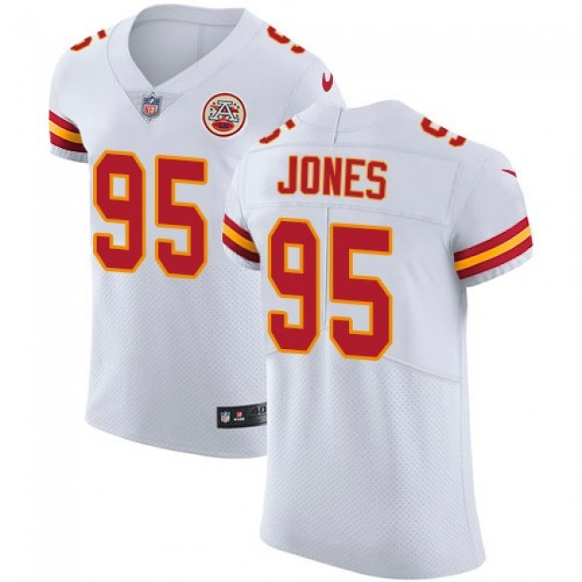 Nike Chiefs #95 Chris Jones White Men's Stitched NFL Vapor Untouchable Elite Jersey