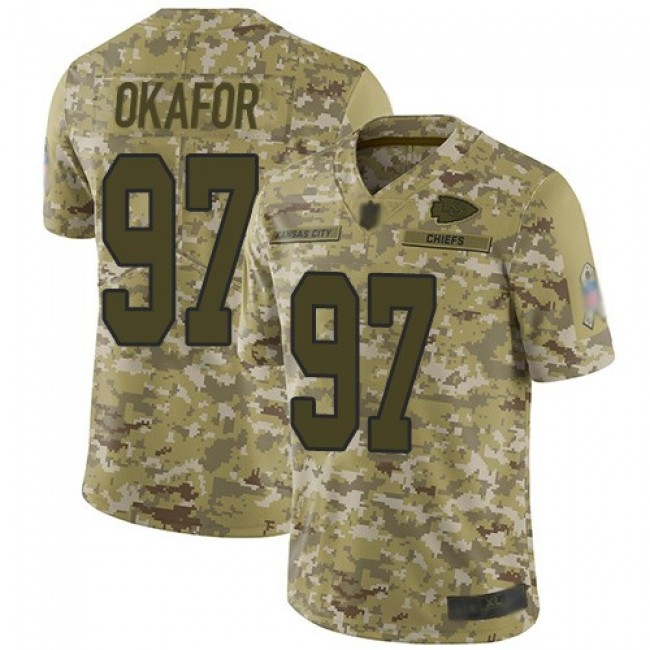 Nike Chiefs #97 Alex Okafor Camo Men's Stitched NFL Limited 2018 Salute To Service Jersey