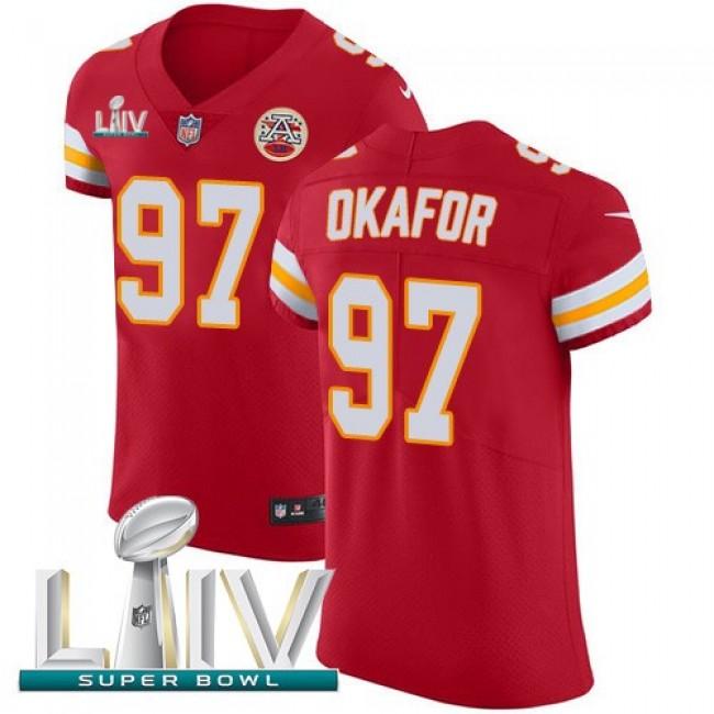 Nike Chiefs #97 Alex Okafor Red Super Bowl LIV 2020 Team Color Men's Stitched NFL Vapor Untouchable Elite Jersey