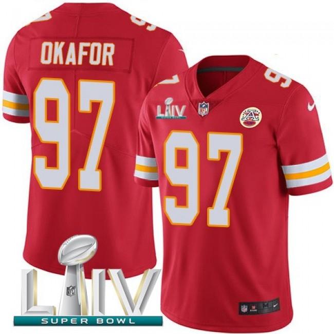 Nike Chiefs #97 Alex Okafor Red Super Bowl LIV 2020 Team Color Men's Stitched NFL Vapor Untouchable Limited Jersey