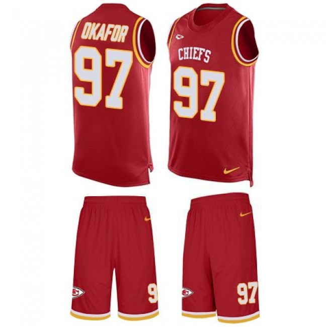 Nike Chiefs #97 Alex Okafor Red Team Color Men's Stitched NFL Limited Tank Top Suit Jersey