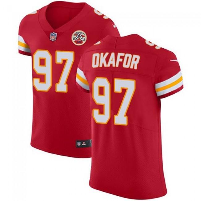 Nike Chiefs #97 Alex Okafor Red Team Color Men's Stitched NFL Vapor Untouchable Elite Jersey