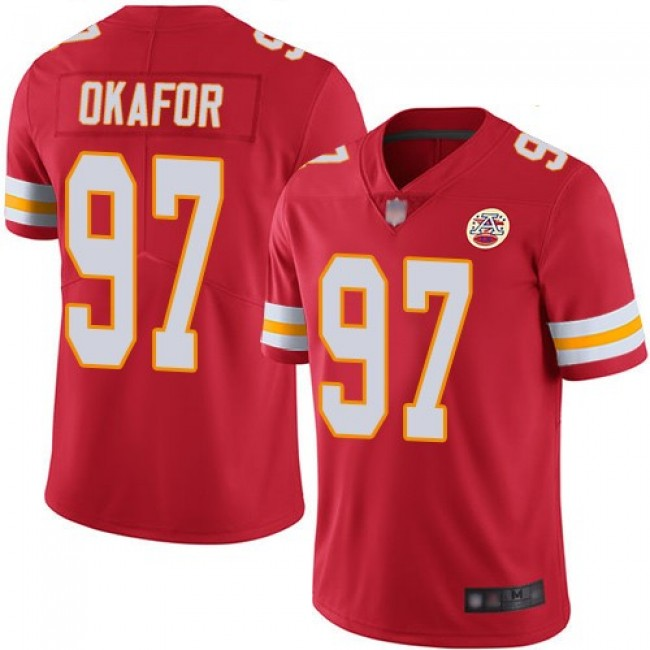 Nike Chiefs #97 Alex Okafor Red Team Color Men's Stitched NFL Vapor Untouchable Limited Jersey