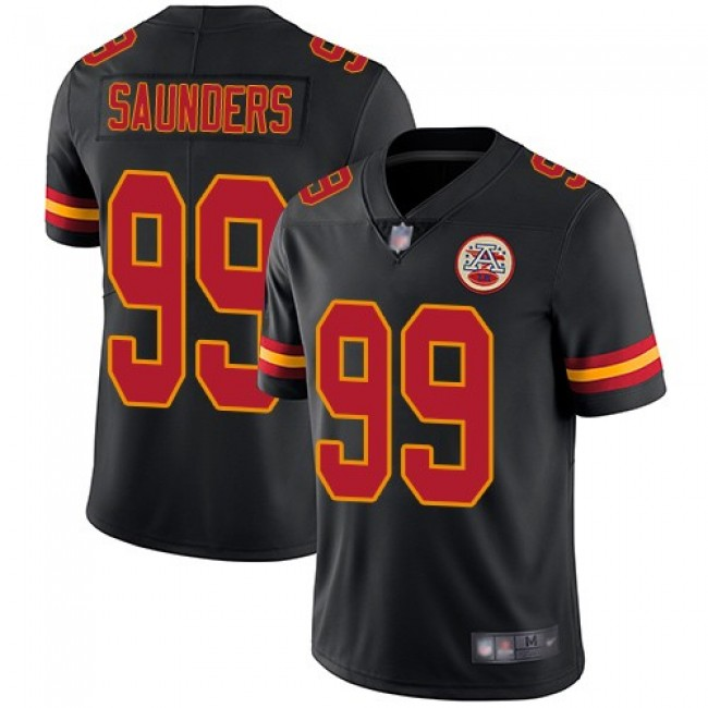 Nike Chiefs #99 Khalen Saunders Black Men's Stitched NFL Limited Rush Jersey