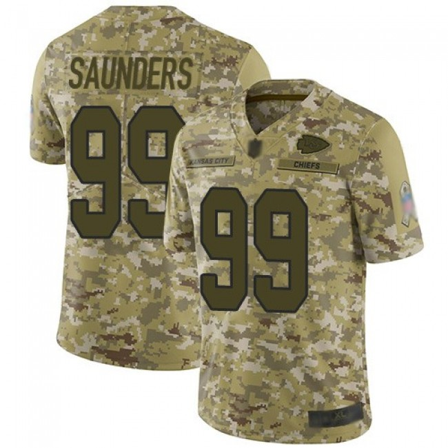 Nike Chiefs #99 Khalen Saunders Camo Men's Stitched NFL Limited 2018 Salute To Service Jersey