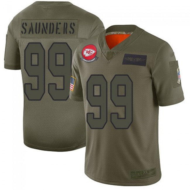 Nike Chiefs #99 Khalen Saunders Camo Men's Stitched NFL Limited 2019 Salute To Service Jersey