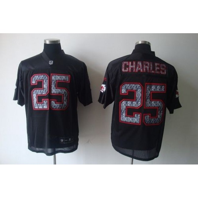 Sideline Black United Chiefs #25 Jamaal Charles Black Stitched NFL Jersey