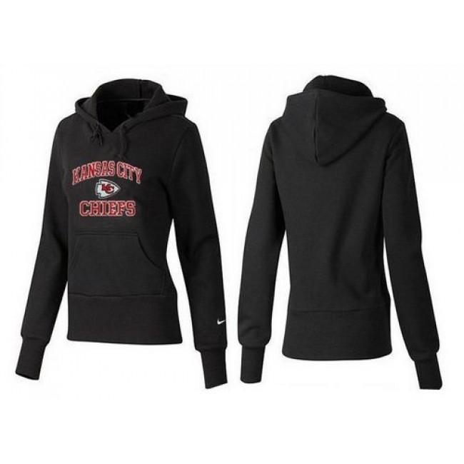Women's Kansas City Chiefs Heart Soul Pullover Hoodie Black Jersey
