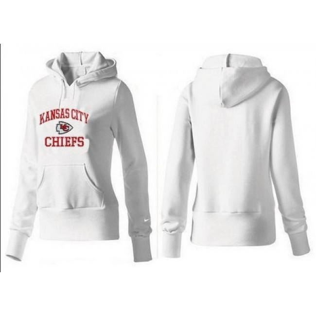 Women's Kansas City Chiefs Heart Soul Pullover Hoodie White Jersey