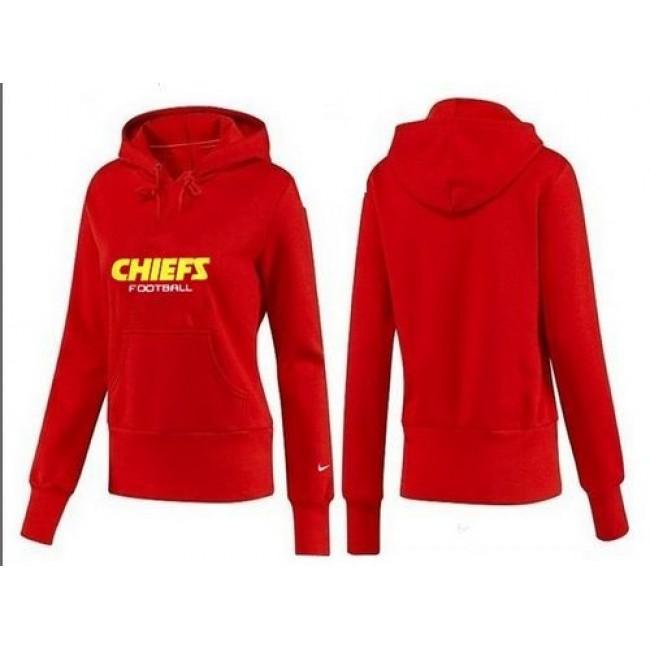 Women's Kansas City Chiefs Logo Pullover Hoodie Red Jersey